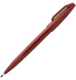 Pentel Fiber Tip Sign Pen Brown
