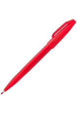 Pentel Fiber Tip Sign Pen Red