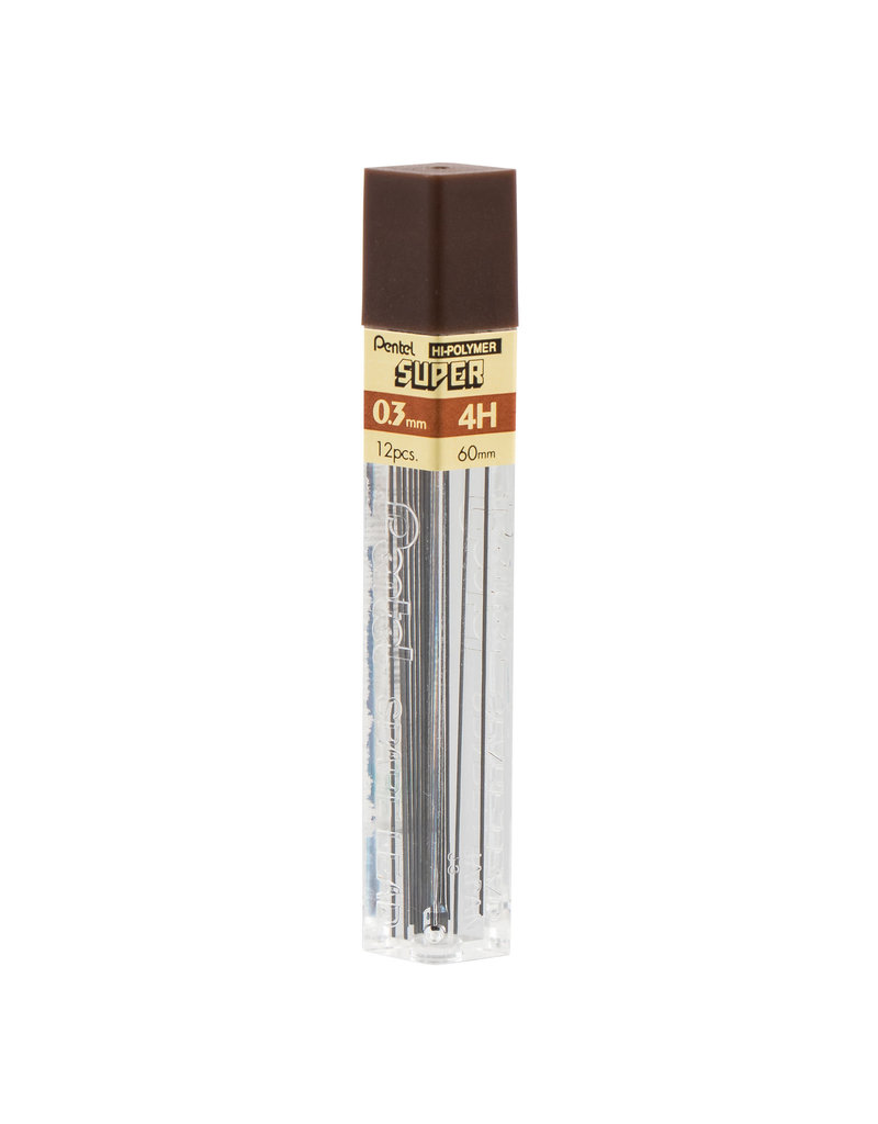 Pentel Lead Mechanical Pencil .3Mm 4H (12/Tube)