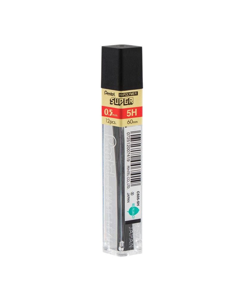 Pentel Lead Mechanical Pencil .5Mm 5H (12/Tube)