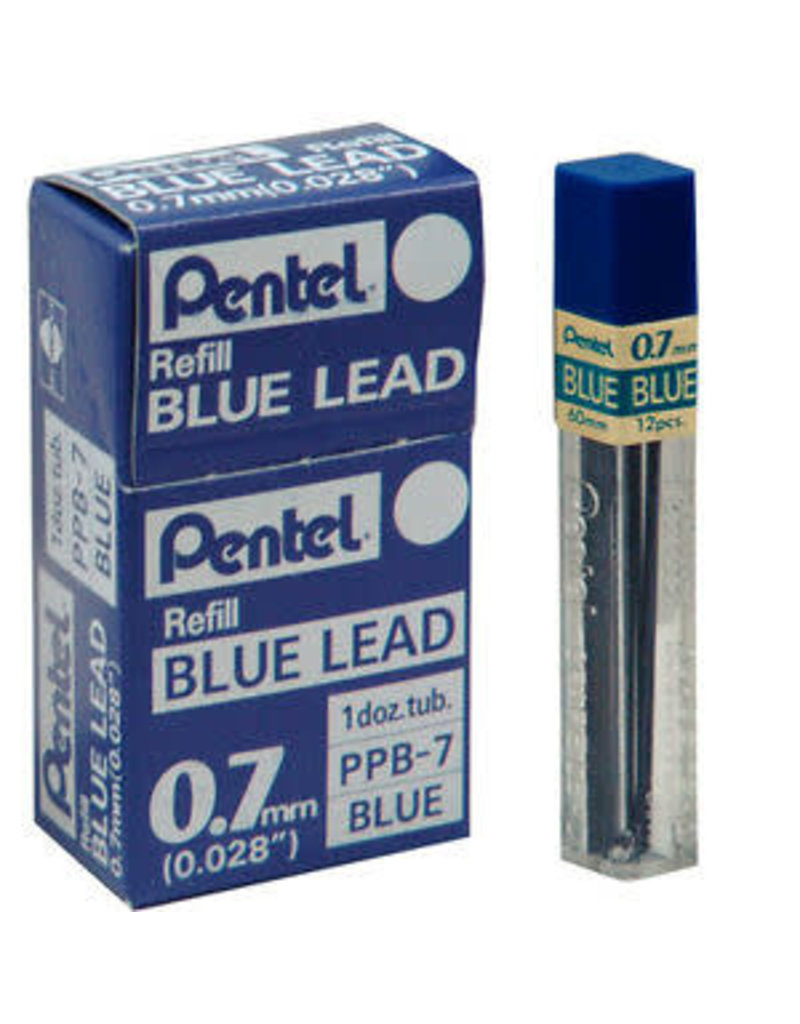 Pentel Lead Mechanical Pencil .7Mm Blue (12/Tube)