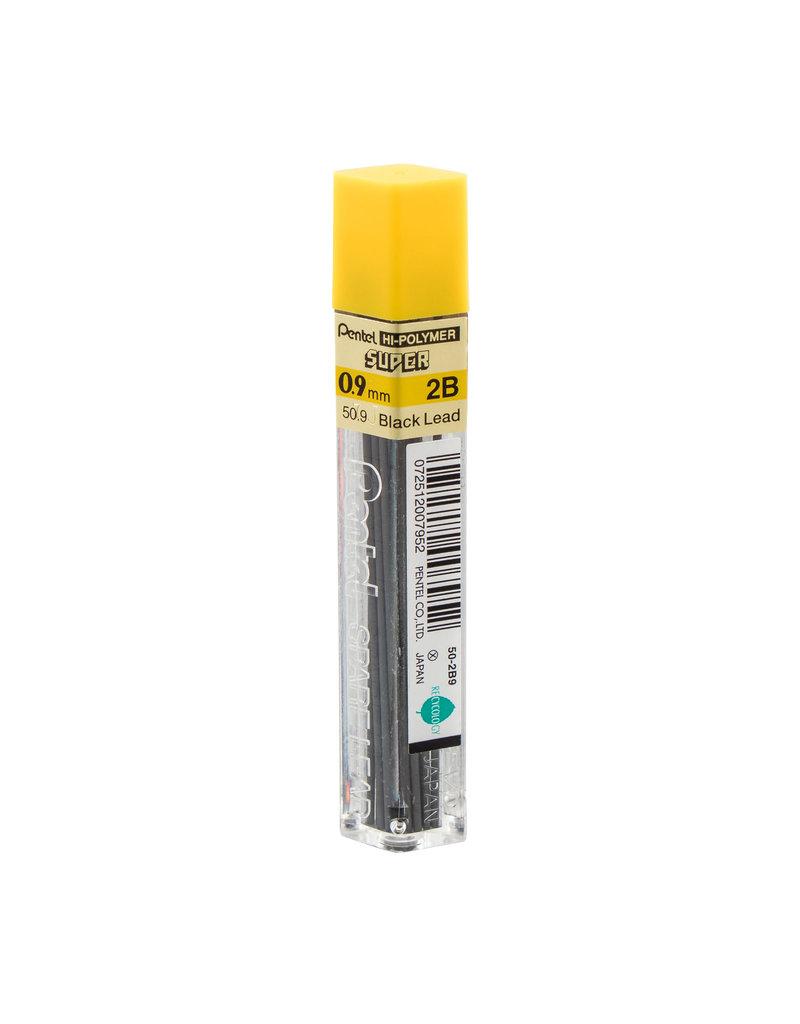 Pentel Lead Mechanical Pencil .9Mm 2B (15/Tube)