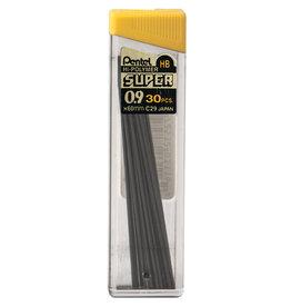 Pentel Lead Mechanical Pencil .9Mm Hb (30/Tube)