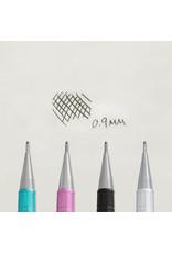 Pentel Sharp Mechanical Pencil  Metallic Silver .9Mm