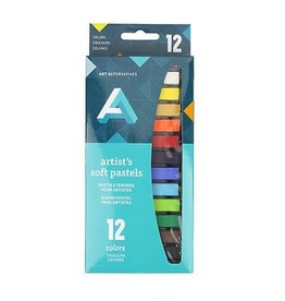 Art Alternatives Artist Soft Pastel Sets, 12-Color Set Assorted