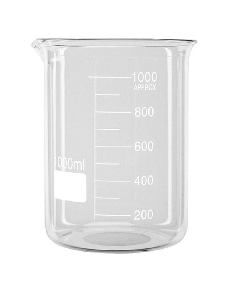 Darice Glass Beaker, Clear 3.25 X 3.75 Inches