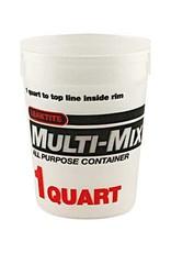 Multi Mix Multi-Mix Plastic Tub 1Qt