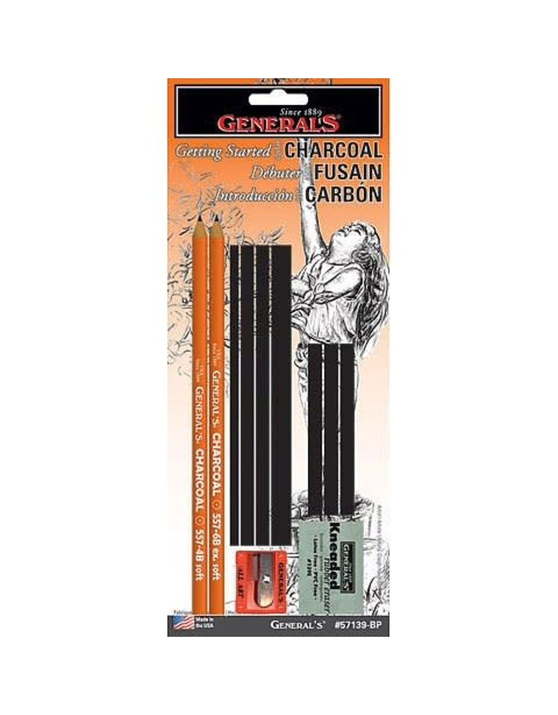 General Pencil Charcoal Drawing Assortment Set, 11 Pieces