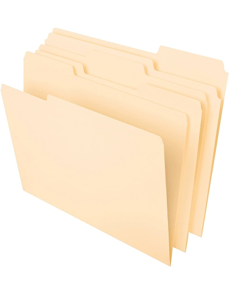 Pendaflex Pendaflex File Folder 3 Tab - Manila 8.5X11In 12Pk Bp 3 Tab