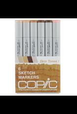Copic Sketch 6 Piece Skin Tones I Set