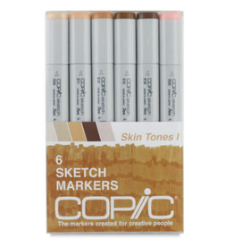 Copic Sketch 6 Piece Skin Tones I Set