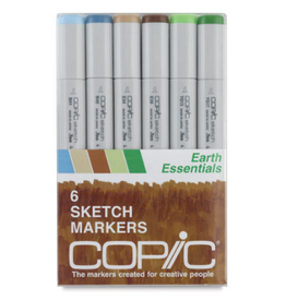 Copic Sketch 6 Piece Earth Essentials Set