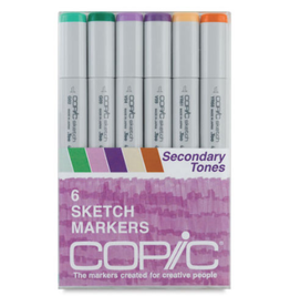 Copic Sketch 6 Piece Secondary Tones Set