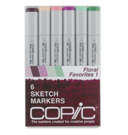 Copic Sketch 6 Piece Floral Favorites I Set
