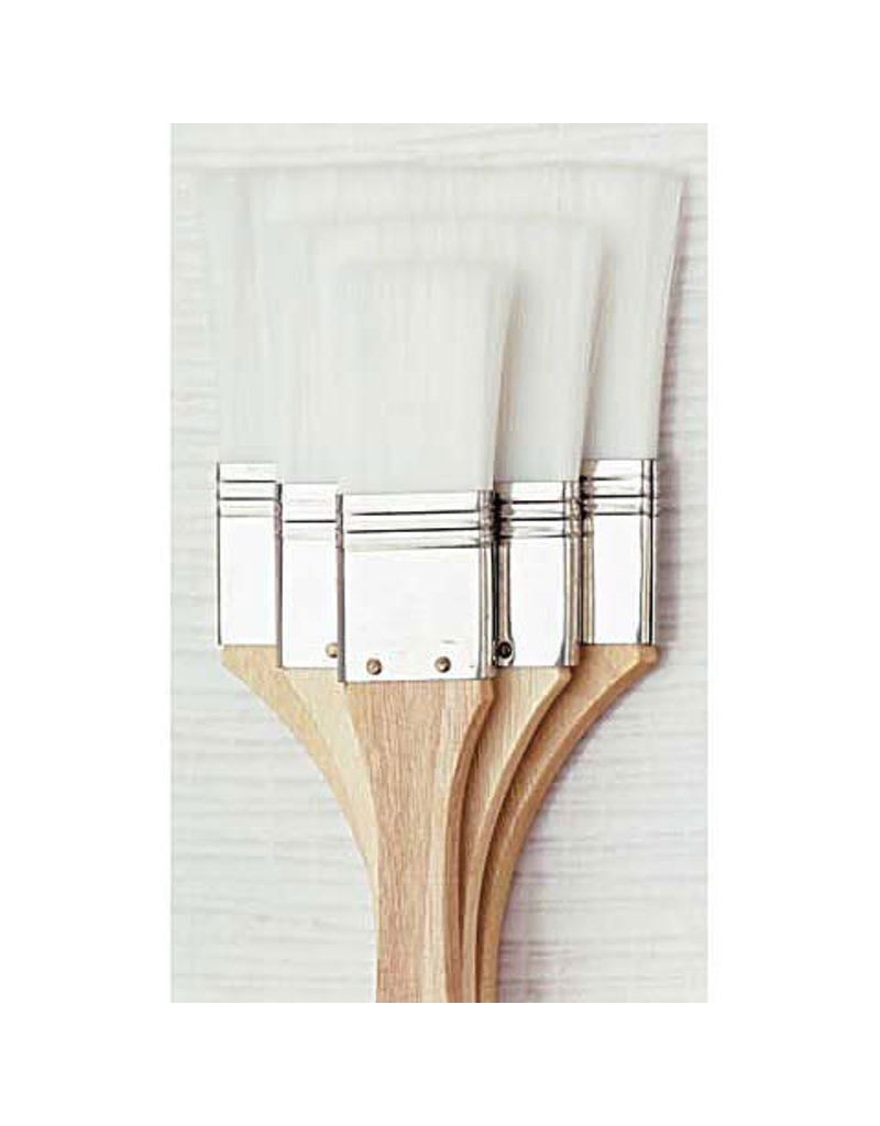 Loew-Cornell White Nylon Brush Set 3 Pc