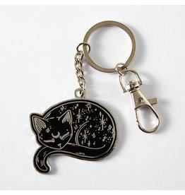 Punky Pins Enamel Keyrings, Sweet, Mystical Cat