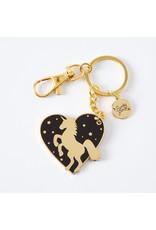 Punky Pins Enamel Keyrings, Sweet, Unicorn Heart