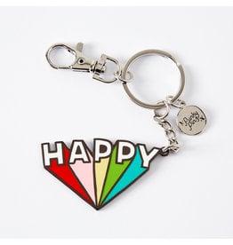 Punky Pins Enamel Keyrings, Sweet, Happy