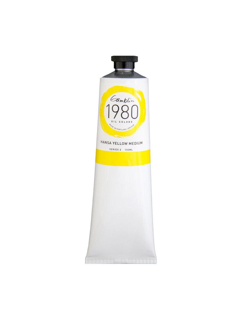 Gamblin 1980 Oil 150Ml Hansa Yellow Medium