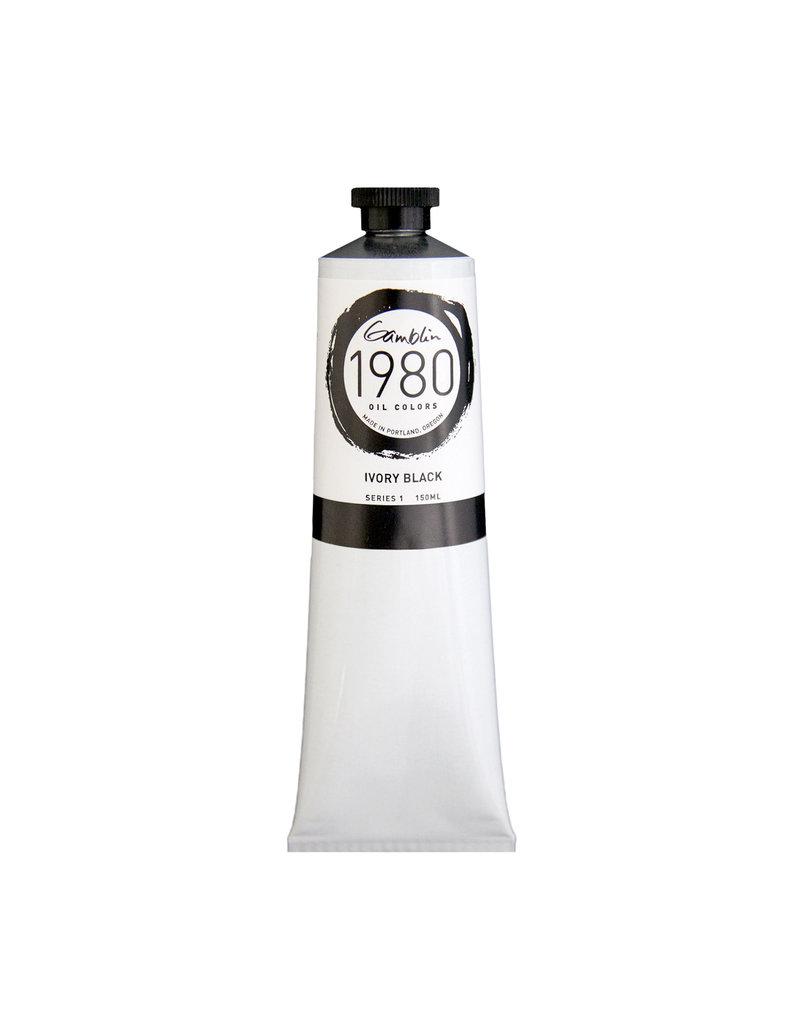 Gamblin 1980 Oil 150Ml Ivory Black