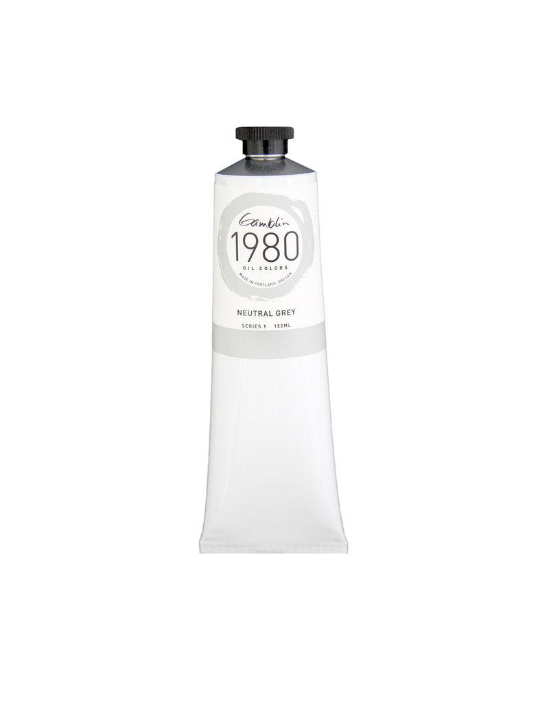 Gamblin 1980 Oil 150Ml Neutral Grey