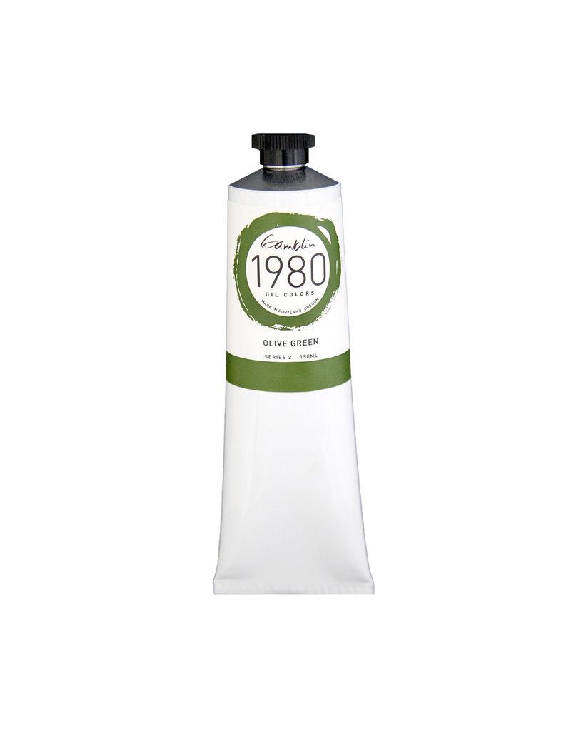 Gamblin 1980 Oil 150Ml Olive Green