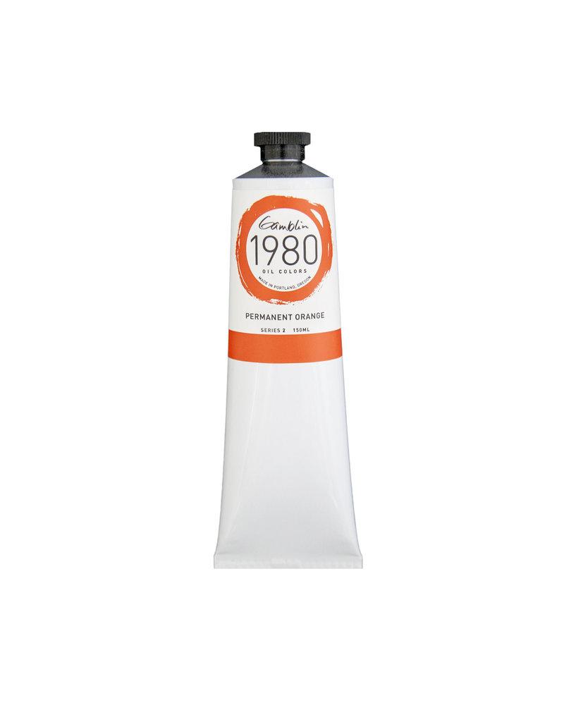 Gamblin 1980 Oil 150Ml Permanent Orange