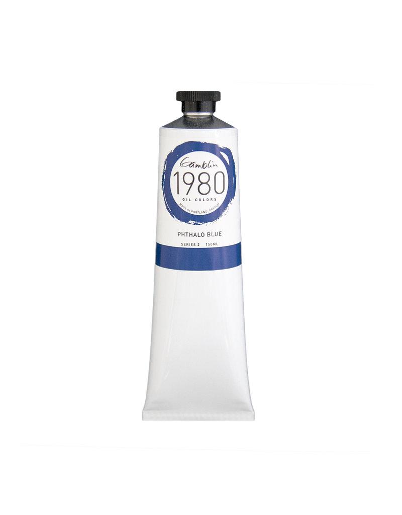 Gamblin 1980 Oil 150Ml Phthalo Blue
