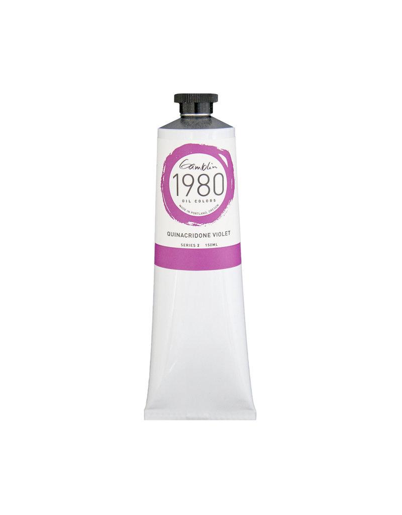 Gamblin 1980 Oil 150Ml Quinacridone Violet