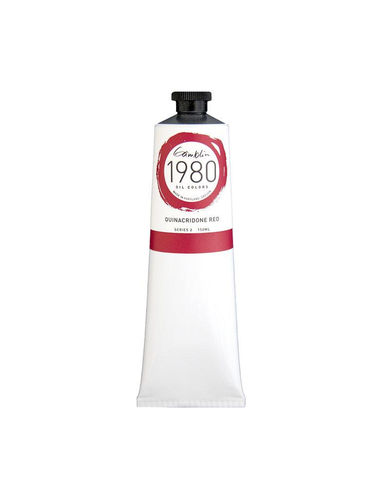 Gamblin 1980 Oil 150Ml Quinacridone Red