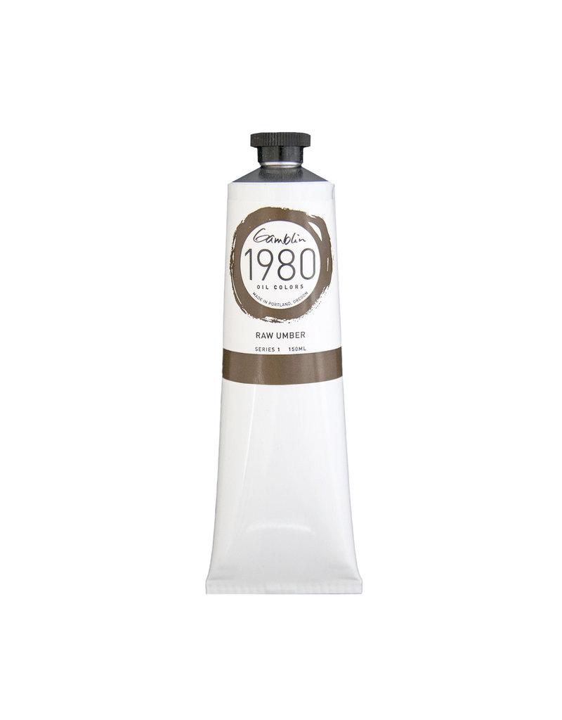 Gamblin 1980 Oil 150Ml Raw Umber