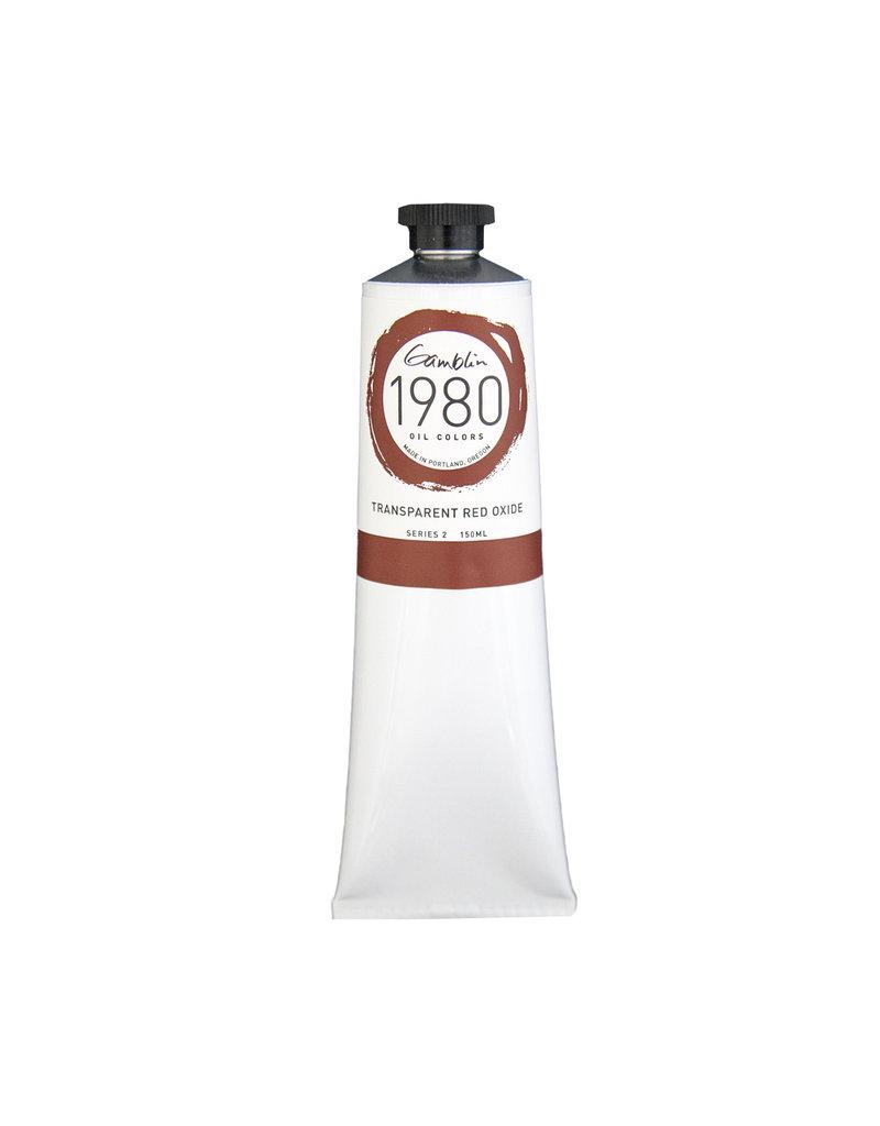 Gamblin 1980 Oil 150Ml Transparent Red Oxide