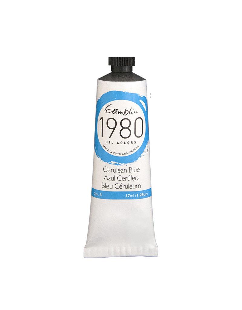 Gamblin 1980 Oil 37Ml Cerulean Blue