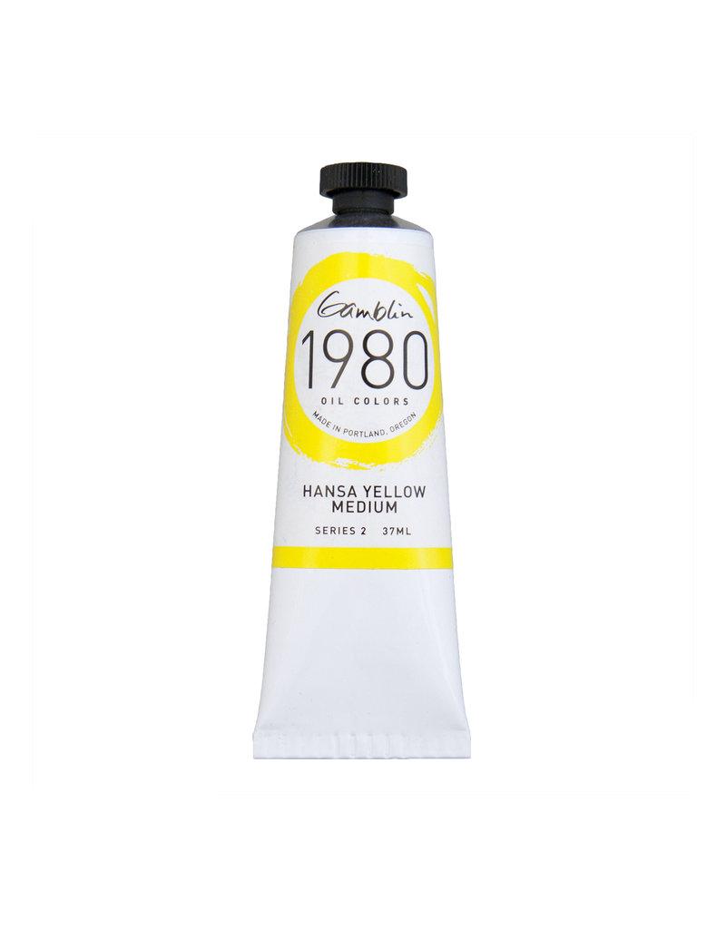 Gamblin 1980 Oil 37Ml Hansa Yellow Medium