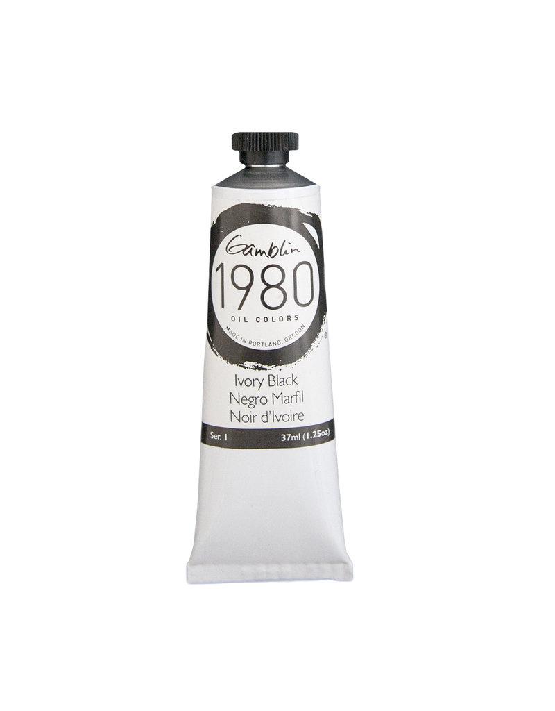 Gamblin 1980 Oil 37Ml Ivory Black