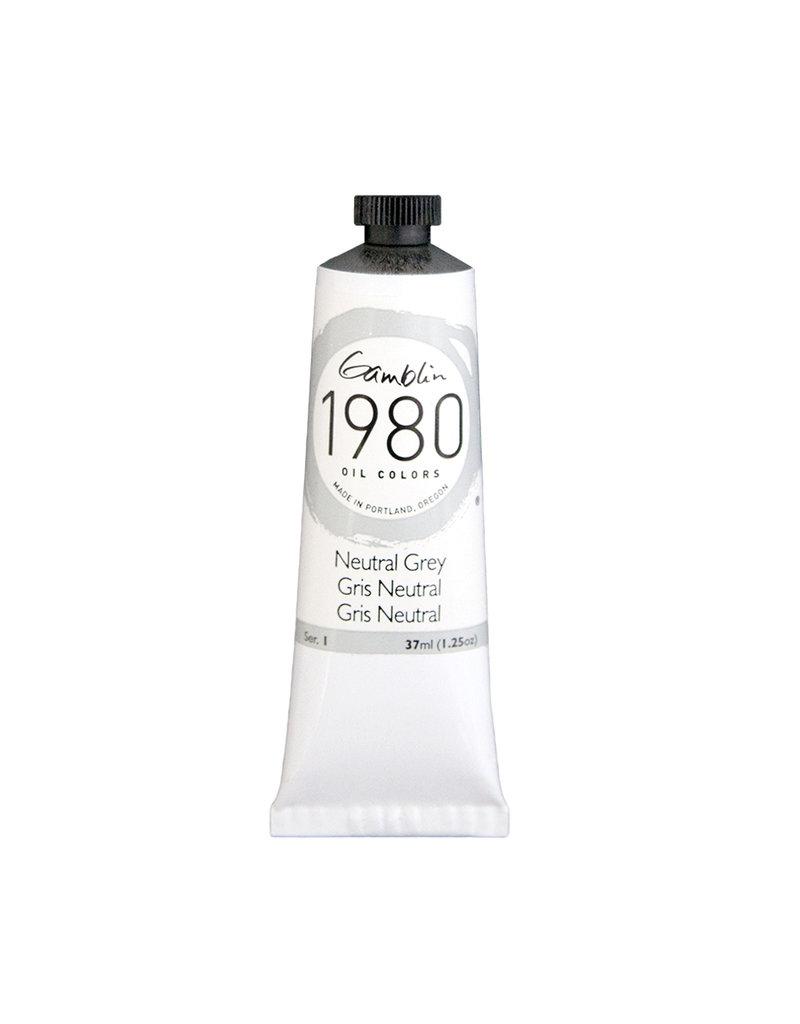Gamblin 1980 Oil 37Ml Neutral Grey