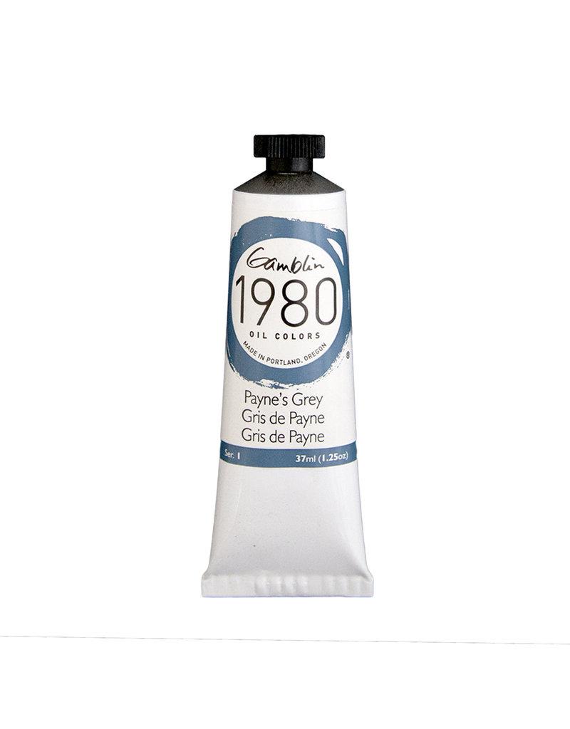 Gamblin 1980 Oil 37Ml Paynes Gray