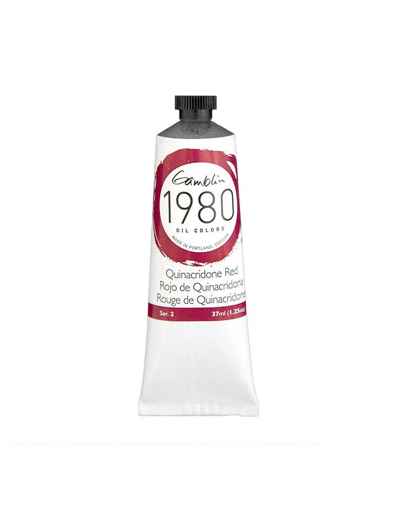 Gamblin 1980 Oil 37Ml Quinacridone Red