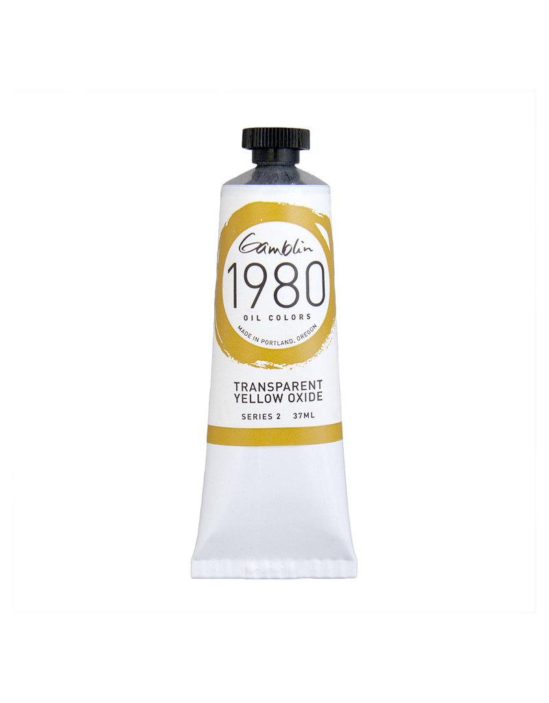 Gamblin 1980 Oil 37Ml Transparent Yellow Oxide