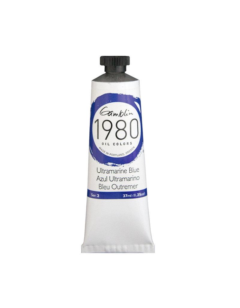 Gamblin 1980 Oil 37Ml Ultramarine Blue