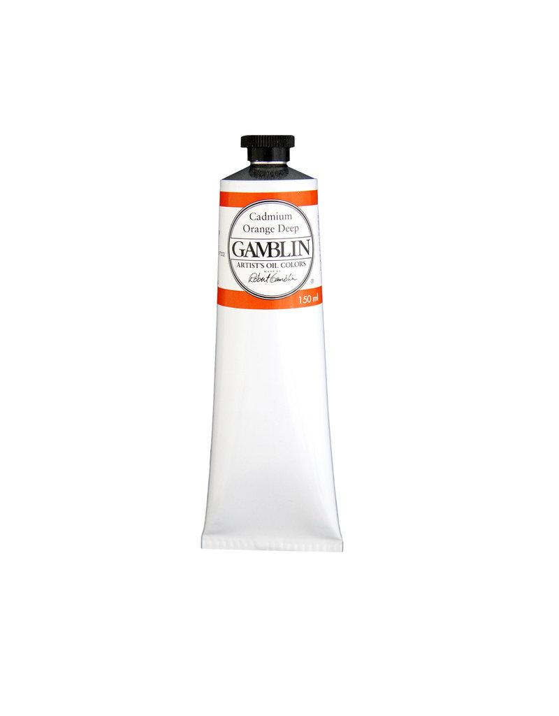 Gamblin Art Oil 150Ml Cadmium Orange Deep