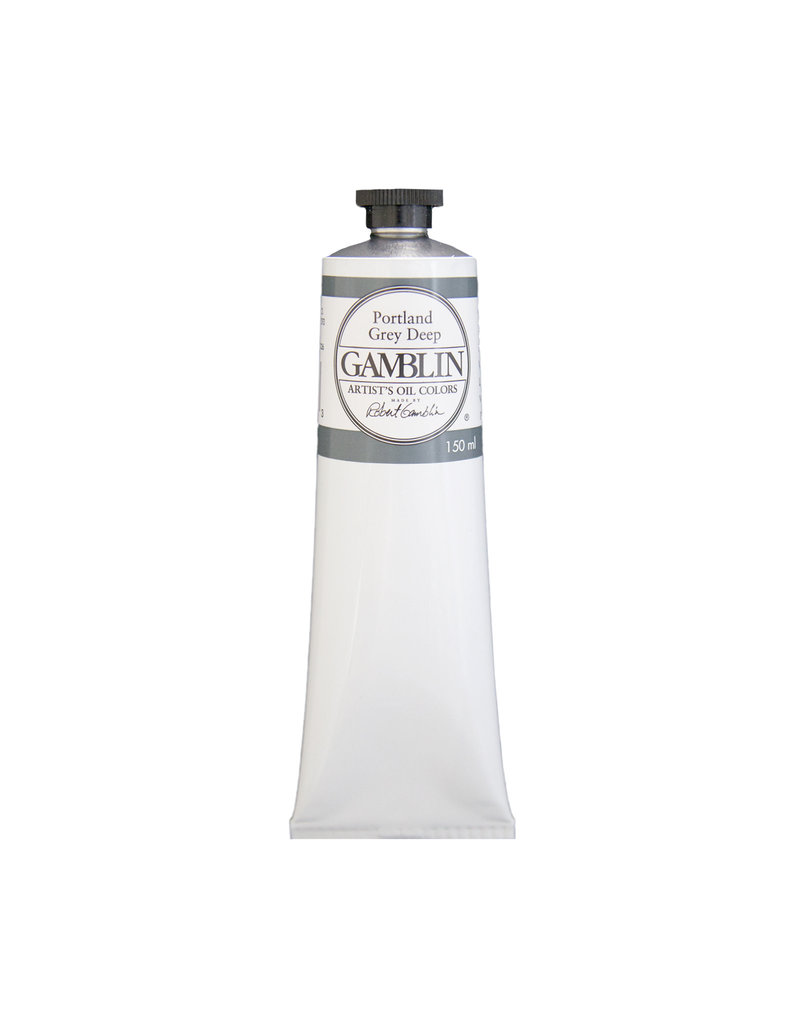 Gamblin Art Oil 150Ml Portland Grey Deep