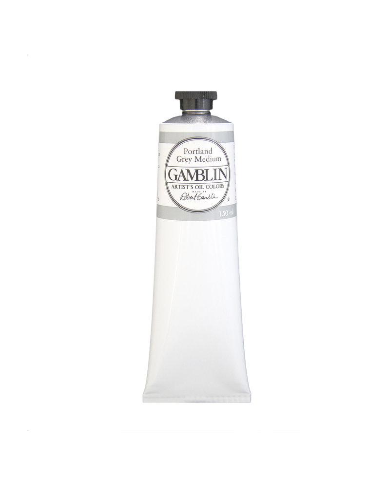 Gamblin Art Oil 150Ml Portland Grey Medium