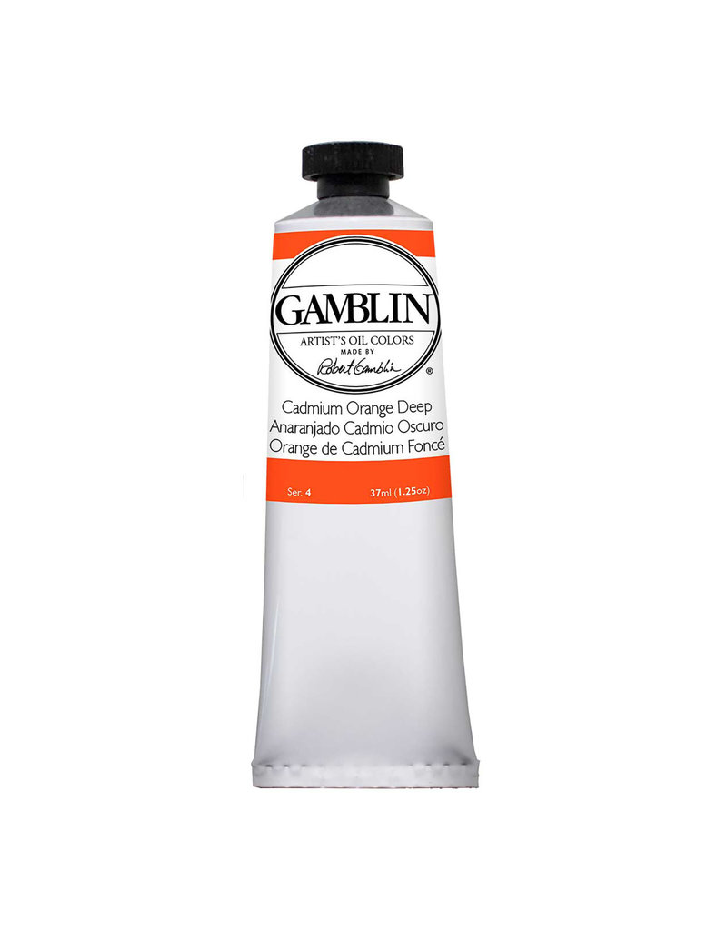 Gamblin Art Oil 37Ml Cadmium Orange Deep