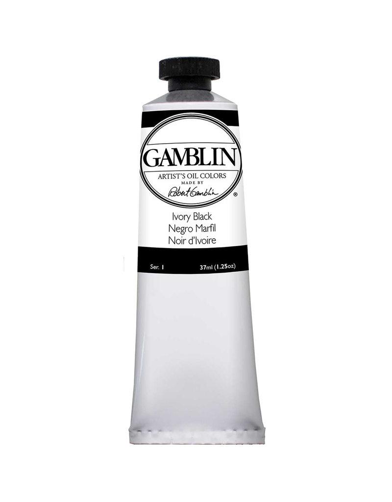 Gamblin Art Oil 37Ml Ivory Black