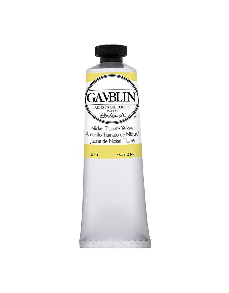 Gamblin Art Oil 37Ml Nickel Titanium Yellow