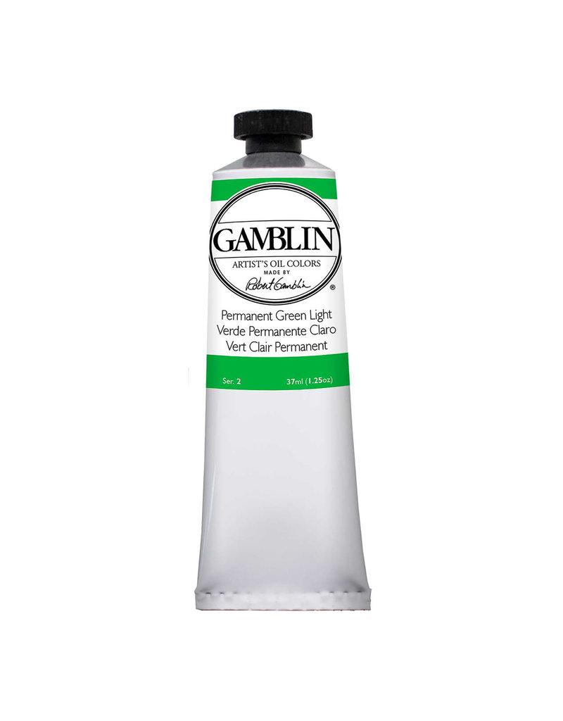 Gamblin Art Oil 37Ml Permanent Green Light