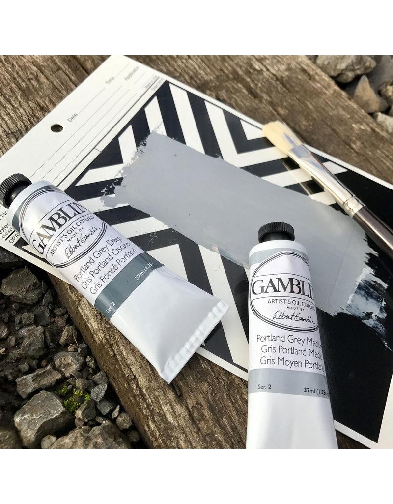 Gamblin Art Oil 37Ml Portland Grey Deep