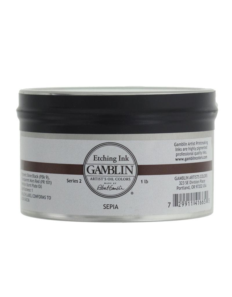 Gamblin Etching Ink Sepia 1Lb