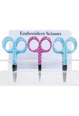 Allary Scissors Embroidery - Pinstripes